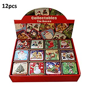 MRlegendary Cajas, 12PCS Navidad Caja