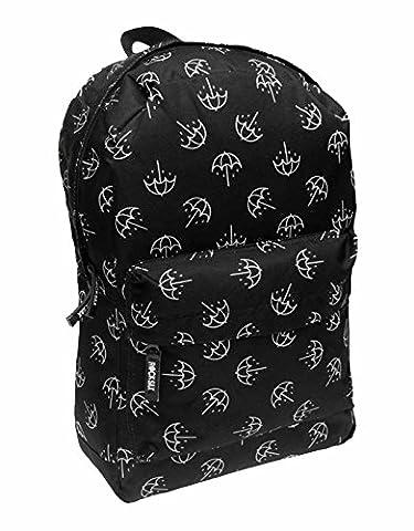 Bring me the Horizon Backpack bag Blanc Umbrella All Over Print officiel Noir