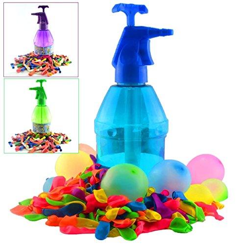 K7plus® Wasserbomben Pumpe mit 200 Wasserballons – Einfüllhilfe für Wasserbomben – 1,5 Liter Inhalt