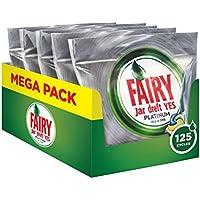 Fairy Platinum Detersivo in Pastiglie per Lavastoviglie, Confezione da 125 Caps (25x5), Limone