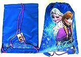 Disney Frozen Anna Elsa Schwimmen Sport Gym Kordelzug PE Schuhe Taschen Schule Rucksack Geschenke für Mädchen Kids Kinder Damen Schwimmbad Travel Pink