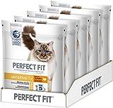 Perfect Fit Katzen-/Trockenfutter Adult 1+ für Erwachsene Katzen Sensitive Reich an Truthahn, 5 Beutel (5 x 750 g)
