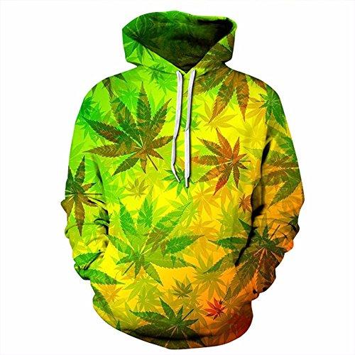 WYZN New Fashion Men/Women 3d Sweatshirts Print Colorful Leaves Thin Hoody Tracksuits Tops Hooded Hoodies
