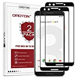 OMOTON [2 pack] Compatible with Google Pixel 3 Screen Protector - Full Coverage Tempered Glass Screen Protector - [3D Round Edge] [9H Hardness] [Crystal Clear] [Scratch Resist] Black