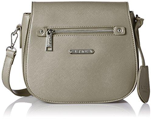 LYDC London Damen G1706 Umhängetasche, 12x20x22.5 cm Grau (Grey)