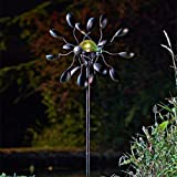 garden mile® Decorative Solar Powered Light Up Garden Wind Spinners With Colour Changing