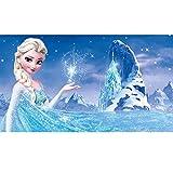 Leezeshaw 5D DIY Diamant Malen nach Zahlen Kits berühmte Strass-Stickerei Gemälde Bilder für Home Decor – Die Eiskönigin (35 x 25 cm) Frameless Frozen