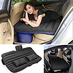 Travel Inflatable Bed Car Air Bed Comfortable Travel Inflatable Car Back Seat Cushion Air Mattress For Kids (Black)