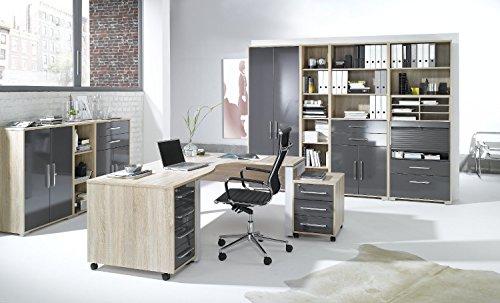 Arbeitszimmer komplett Set MAJA SYSTEM 1203 Büromöbel in Eiche/grau