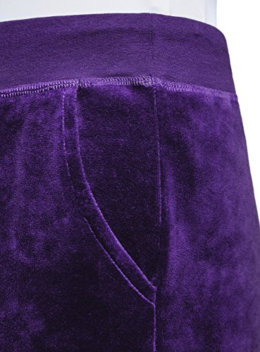 oodji Ultra Femme Pantalon de Sport avec Cordon de Serrage Violet (7501N)