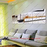 Naveed Arts - Acrylic 3D Wall Décor for Home and Office - Mirror Art Pattern - JB089M Full Set - Factory Outlet