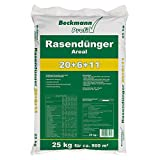 Beckmann Profi Rasendünger AREAL 20+6+11 •  25 kg für 700-1.000 m² • Volldünger