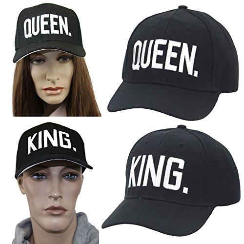 Partner Cap im SET 'King & Queen' Baseball Cap Base Cap mit hochwertiger Stickerei