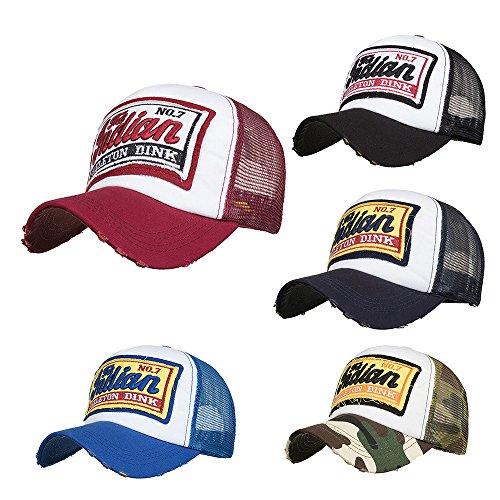 Imagen de ovinee  bordada de malla  de béisbol  sol sombrero,unisex,outdoor sportswear,para caza, camping, senderismo, viajes,guapo,mantener,caliente