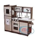 MCC Spielküche aus Holz für Mädchen und Jungen, wunderschönes Design, BRAUN/SILBER, Unisex
