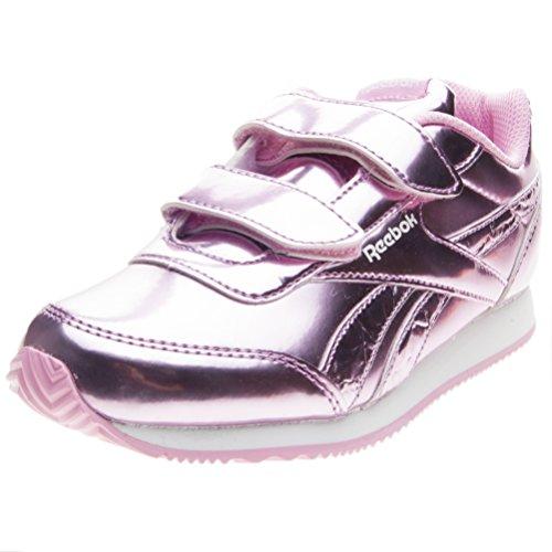 Reebok Royal Cljog 2 2V, Zapatillas de Deporte para Niñas, Metallic Light Pink/White 000, 33 EU