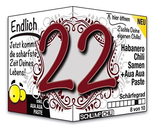 Endlich 22 – das witzige Geburtstagsgeschenk für junge Männer und Frauen :)
