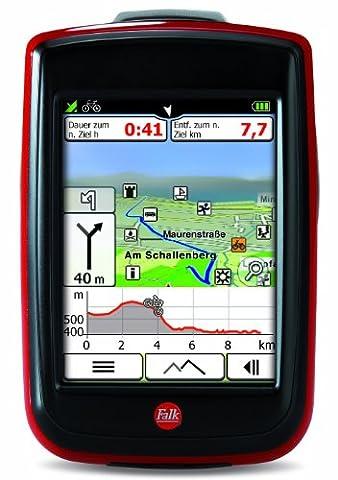 Fahrradnavigationsgerät Falk IBEX 32, 3 Zoll Touchscreen, Premium Outdoor-Karte und
