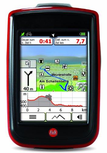 falk ibex 32 de Fahrradnavigationsgerät Falk IBEX 32, 3 Zoll Touchscreen, Premium Outdoor-Karte und Basiskarte Plus (EU 25) zum Tourenradfahren, Wandern und Geocaching