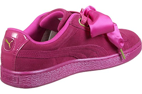 Puma Suede Heart Satin Femme Baskets Mode Rose Rose