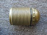 Fassung E27 gold mit Außengewinde, Gewinde M10 (Metall) mit Feststellschraube