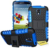 Galaxy S4 Active Handy Tasche, FoneExpert® Hülle Abdeckung Cover schutzhülle Tough Strong Rugged Shock Proof Heavy Duty Case für Samsung Galaxy S4 Active + Displayschutzfolie (Blau)