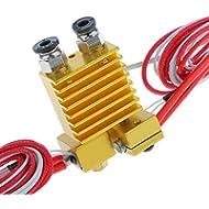 Doppelkopf 0.4mm Düse Chimäre Extruder V5 V6 Hotend für 3D-Drucker 1.75mm