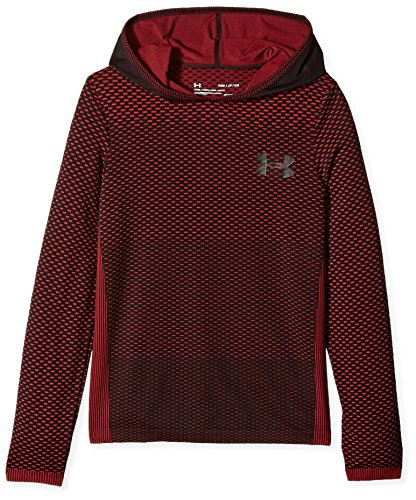 Under Armour Jungen Nahtloser Kapuzenpulli Oberteil, Red / / Black (600), YXL