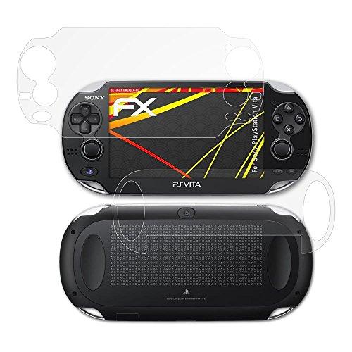 atFoliX Schutzfolie kompatibel mit Sony PlayStation Vita Displayschutzfolie, HD-Entspiegelung FX Folie (3er Set)
