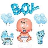 A Design Baby Shower Luftballon Deko Set - Für eine Boy Junge Babyparty (14 Teilig)