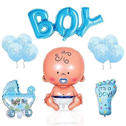 (Layal Design Baby Shower Deko Set - Für eine It's a Boy Junge Babyparty (14 Teilig))