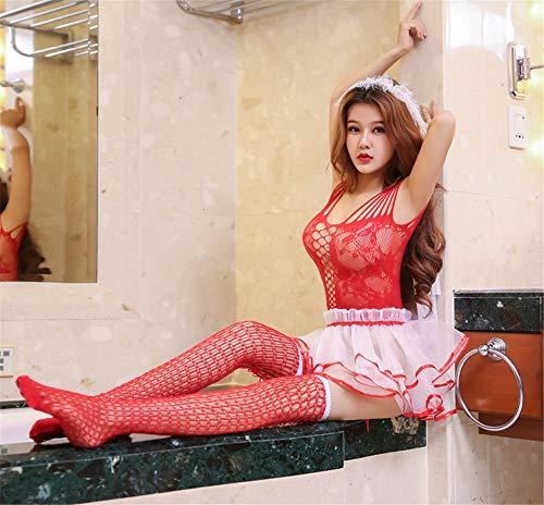 YZNKDCD Sexy erotische Dessous Brautkleider mit Schleier Tutu Puppe Erotische Dessous