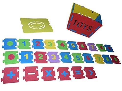 , A134, Box mit Moosgummi Zahlen - für das erste Rechnen, Geschenk-idee für Jungen und Mädchen für Weihnachten und zum Geburtstag, Geburtstags-Geschenk (Weihnachts-ideen Für 6-jährigen Jungen)