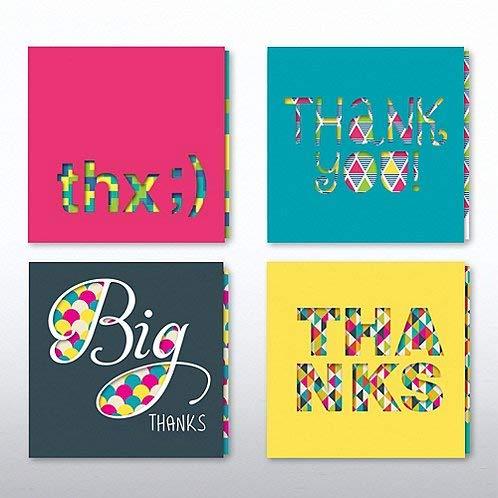 Bunte Dankeskarten - Peek-a-Boo Slider Set - Dankeskarten für Mitarbeiter Slider Card
