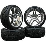 4x Onroad Felgen +VVX Reifen bis über 100km/h 1/10 FR5