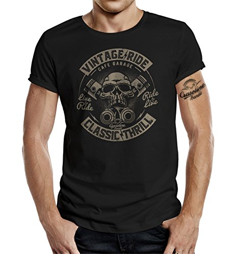 Original GASOLINE BANDIT® Design Biker Shirt: Vintage Ride Classic Thrill Schwarz