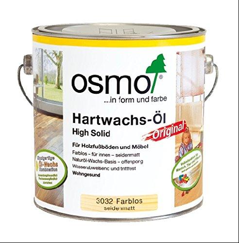Osmo Set 2 x 2,5 l Hartwachs-Öl Original Seidenmatt 3032 + Roll- und Streichset GRATIS