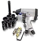 BITUXX® Druckluft Schlagschrauber Set 17-teilig Pneumatik Luftdruck Schlag Schrauber