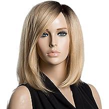 Sharplace Peluca de Manera de Pelo Humano Real Aspecto Natural de Señoras Mujeres - Luz de