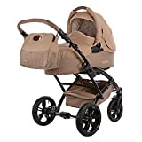 knorr-baby 3200-01 Kombikinderwagen, Voletto Happy Colour, grau/beige
