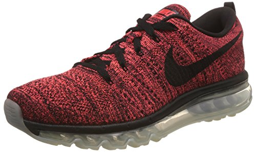 Nike Flyknit Max, Chaussures de Running Entrainement Homme Multicolore - Negro / Negro / Rojo / Naranja (Blk / Blk-Brght Crmsn-Hypr Orng-)