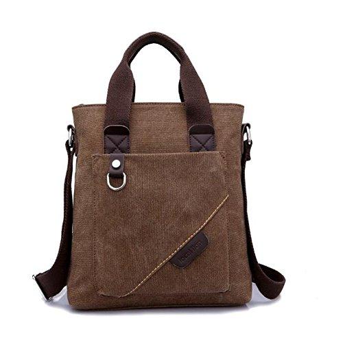 Wmshpeds Gli uomini di spalla borsa di tela Casual Messenger Bag zaino uomini borsetta A
