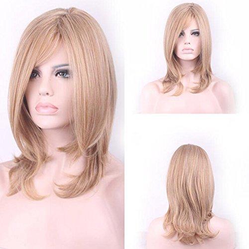 wig Perücke, Lady-lange lockige Blond hitzebeständige Farbe, natürliche Wellen Wolf der Gradient Cosplay Kostüm Party Kostüm-Tag. (Womens Adult Kostüme Perücken)