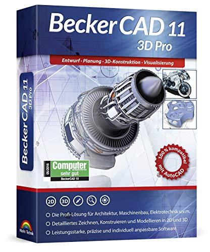 BeckerCAD 11 3D PRO für Windows 10 8 7 | Cad-Software für Architektur, Maschinenbau, Modellbau und Elektrotechnik | 3D Zeichenprogramm kompatibel mit Autocad