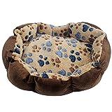 FOONEE Mini Hund Bett, Hund Box Matte Plüsch Hundebett Klein selbstwärmende Lounge Sleeper Haustierbett Katzen Hunde 35,1x 26,9cm