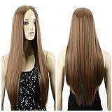 Con SpritechTM una pieza rojo mujeres extensión del pelo rizado largo ondulado 6 Clips rulos, negro, talla única