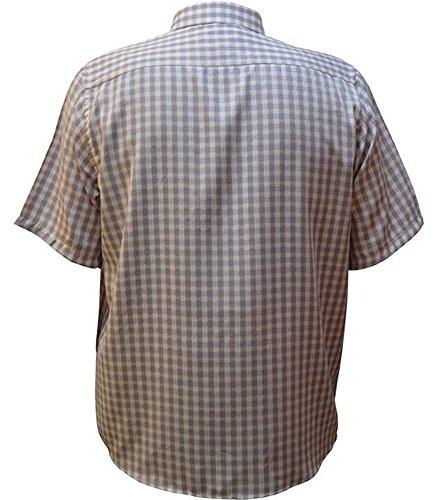 Übergrössen!!! WOW !!! Schickes Hemd LAVECCHIA HKA14-04 in Flieder/Weiß kariert Flieder/Weiß