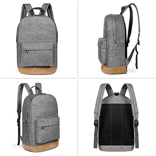 Einfarbig Einfache Art Und Weise Rucksack Freizeit Rucksack Outdoor Reisetasche gray