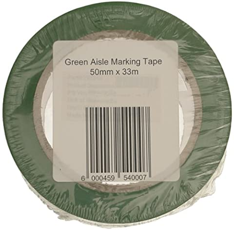 Signs & Labels FBLW6 50mm x 33m Aisle Marking Tape - Green
