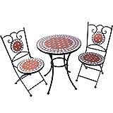 Oramics 102102Set di mobili da giardino, Nero, 120x 80x 50cm